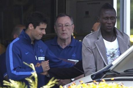 Mapou Yanga-Mbiwa, ici avec Yoann Gourcuff en Equipe de France - DR