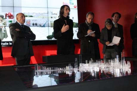 Gérard Collomb et les architectes ont présenté jeudi le projet - LyonMag