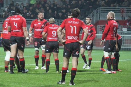 Les joueurs du LOU Rugby au Matmut Stadium - Photo Lyonmag.com