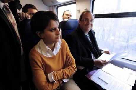 François Hollande et Najat Vallaud-Belkacem - DR