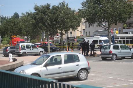 Le quartier a été bouclé après le coup de feu - Photo LyonMag
