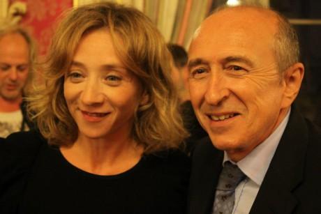 Sylvie Testud et Gérard Collomb - LyonMag