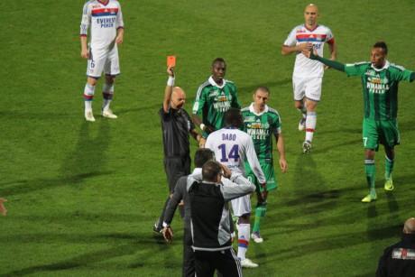 Dabo expulsé contre Saint-Etienne - LyonMag
