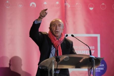 Gérard Collomb lors de son meeting au Pathé Vaise, un meeting particulièrement coûteux - LyonMag