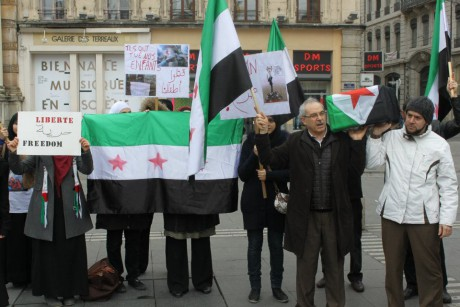 Les syriens avaient déjà manifesté à Lyon l'an dernier - Photo LyonMag