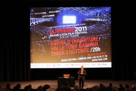 Thierry Frémaux lors de la cérémonie de présentation du Festival Lumière 2011 - LyonMag