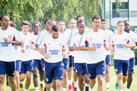 Les Lyonnais à l'entainement (Photo LyonMag)