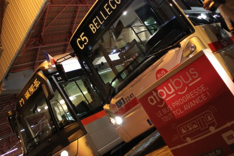 Les bus prêts à quitter les dépôts lundi 26 août pour le lancement d'Atoubus - DR