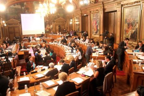 Conseil municipal à Lyon - DR
