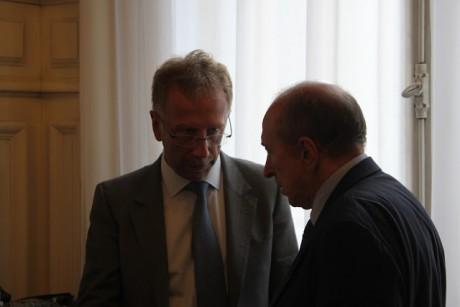 Gérard Collomb (ici avec Alain Giordano) se lancera-t-il dans la bataille déjà gagnée des primaires ? - LyonMag