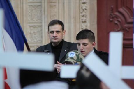 Yvan Benedetti, leader de l'Oeuvre Française, derrière Alexandre Gabriac - LyonMag