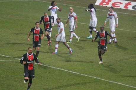 Hoarau, homme du match côté parisien - Photo LyonMag