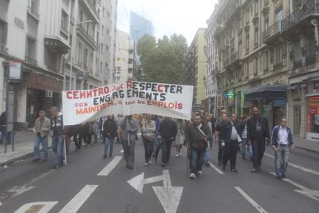 60 employés de Centroo Motors ont manifesté ce lundi matin - LyonMag