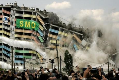 La barre 220 détruite en 2010 - DR