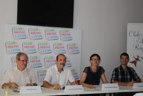 Les représentants des 4 partis faisant partie du rassemblement - LyonMag.com