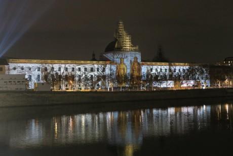 La façade illuminée du Grand Hôtel Dieu - DR/Myriam Picot