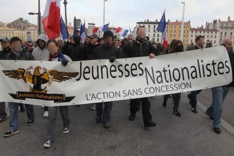 Les Jeunesses Nationalistes défilant samedi à Lyon - LyonMag