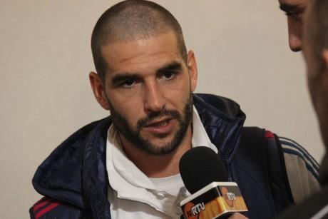 Licha au sortir du 32e de finale de coupe de France contre La Duchère dimanche. L'attaquant argentin a marqué les trois buts de son équipe - LyonMag