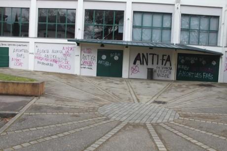 La salle des fêtes d'Oulins vandalisée - DR