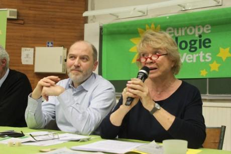 Denis Baupin, adjoint écologiste à la Ville de Paris et Eva Joly - LyonMag