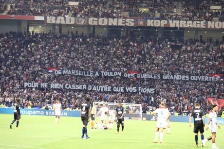 L'une des banderoles déployée par les Bad Gones - LyonMag.com