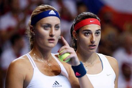 Kristina Mladenovic et Caroline Garcia - DR EPA