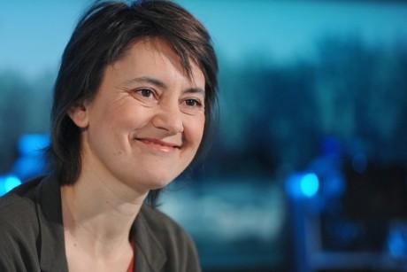 Nathalie Arthaud à Vénissieux le 12 avril - DR