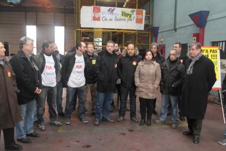 Les salariés avec notamment André Gerin - LyonMag
