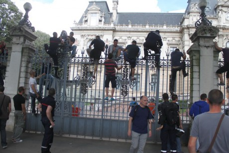 Les pompiers du Rhône, lors d'une précédente manifestation - photo d'archive Lyonmag.com