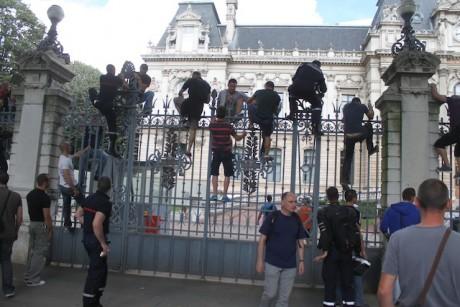 Les pompiers du Rhône, lors d'une précédente manifestation - Lyonmag.com