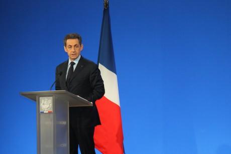 Sarkozy lors de sa dernière visite lyonnaise le 19 janvier à Eurexpo- LyonMag
