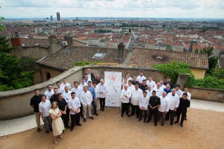 L'équipe de Tous au restaurant lors de la présentation de la quatrième édition à Lyon - DR