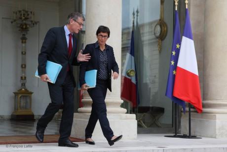 Vincent Peillon et Valérie Fourneyron - DR