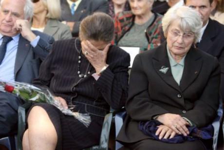 Denise Vernay, ici aux côtés de sa soeur Simone Veil - DR AFP