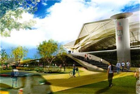 Le Grand Stade de Lyon à Décines est candidat au match d'ouverture - Photo DR
