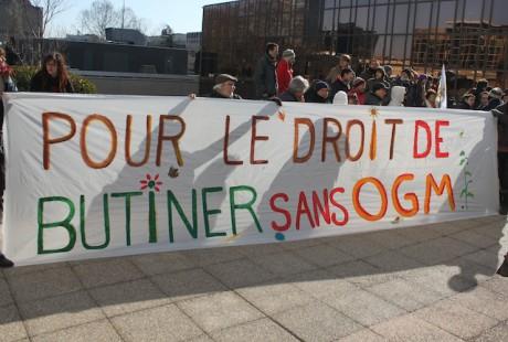 Les faucheurs volontaires devant la cité administrative d'Etat lundi à Lyon - LyonMag