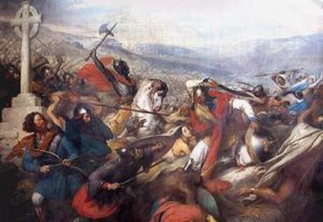 Sarrasins et Francs se sont souvent battus, comme ici à Poitiers - DR