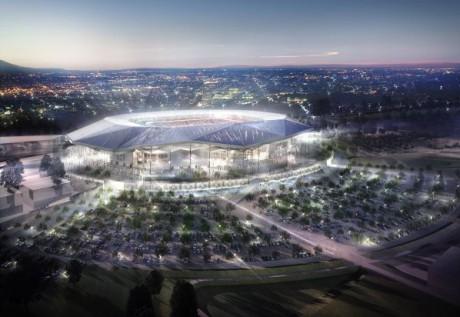 Le futur stade de l'OL à Décines - DR