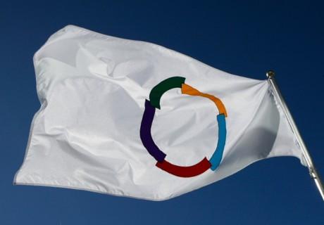 Le drapeau de la francophonie - DR