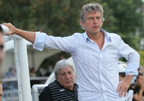 Paul Orsatti derrière Christian Gourcuff - Photo FCLWeb