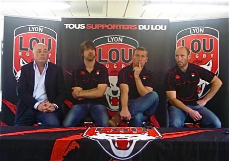 Yvan Patet, Matthieu Lazerges, Raphael Saint-André et Xavier Sadourny - Photo LyonMag