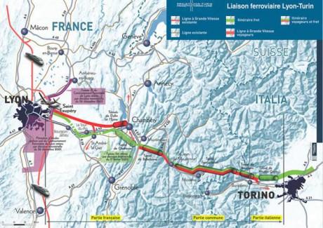 Le tracé prévisionnel du futur TGV Lyon-Turin - DR