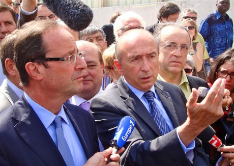 François Hollande et Gérard Collomb - Photo Lyonmag.com