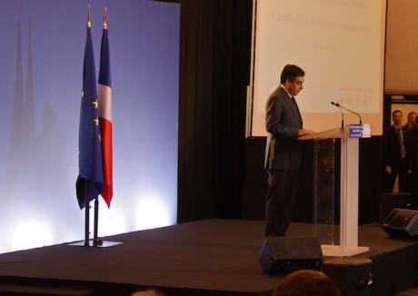 François Fillon lors de son discours à l'IRI - Photo Lyonmag.com