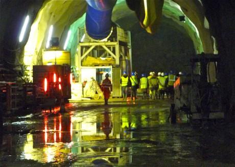 L'intérieur du second tube du tunnel de la Croix-Rousse, dédié aux modes doux - LyonMag