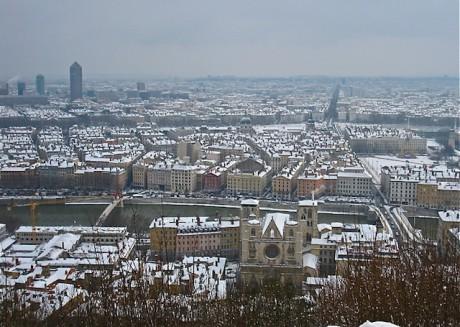 Lyon sous la neige - DR