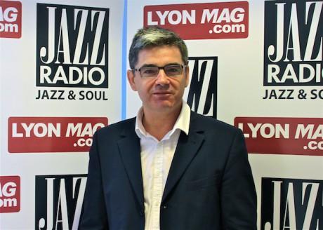 Dominique Delorme jeudi matin dans les studios de Jazz Radio - Jazz Radio/LyonMag