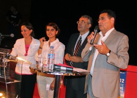 Ségolène Royal, accompagné par Najat Valaud-Belkacem, Jean-Jack Queyranne et Jean-Paul Bret - LyonMag