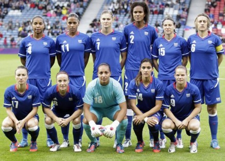 L'Equipe de France féminine de Football aux JO de Londres - Photo AFP/DR