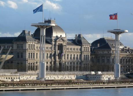L'université Lyon 3 et Lyon 2 sur les quais du Rhône - DR